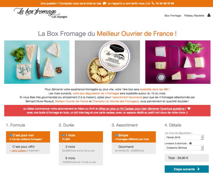 la box fromage des Alpages